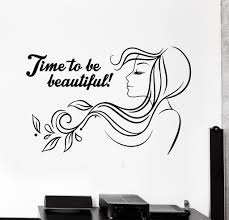 Beauty Parlour Quotes Best of Vinyl Wall Decal Beauty Salon Quote Woman Hair Salon Stickers Mural