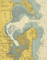 Scituate Harbor Nautical Chart Print Products Nautical