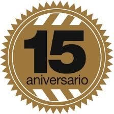 Resultado de imagen de logo decimo quinto aniversario