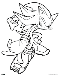 sonic hedgehog printable coloring pages x the shadow