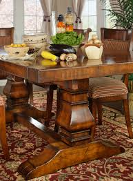 tuscany trestle dining table room