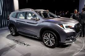 2018 subaru ascent suv. exellent subaru the subaru ascent concept sport utility vehicle is displayed at the new  york international auto show for 2018 subaru ascent suv