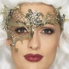 gold filigree masquerade mask fancy