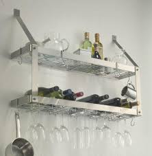 Kitchen Rack Kitchen Awesome Wall Mounted Wine Glass Rack For Wine Glass