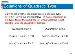equations of quadratic type