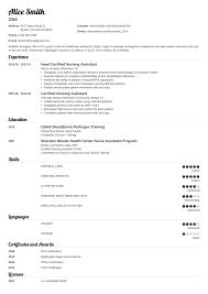 Cna Resume Examples Job Description Skills Template