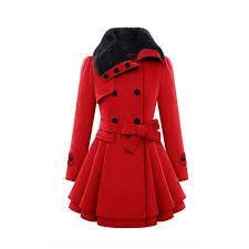 aliveGOT Women'S <b>Fashion</b> Faux Fur Lapel <b>Double</b>-Breasted Thick ...