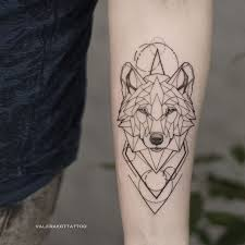 Geometric Wolf On Hand Animal Tattoo Blackwork Tattooidea