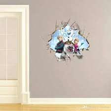home art frozen wall stickers cartoon frozen wallpaper kids room nursery wall decals cartoon disney