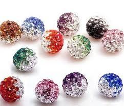 10mm <b>50pcs</b>/<b>lot Mixed color</b> in <b>random</b> Micro Pave Disco Ball ...