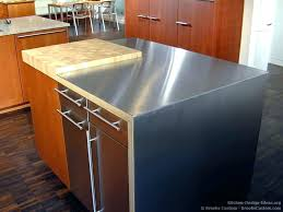 kitchen island stainless steel top white in stainl