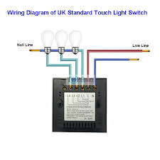 uk standard black 2 gang 2 way remote touch switch for smarthome wiring diagram of uk standard remote touch switch