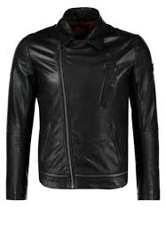durable boss orange jama leather jacket black men