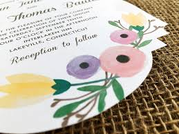 invitation t free wedding invitation template with watercolor flowers