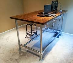 diy standing desk pipe. Simple Standing Diy Standing Desk Pipe  Desk  Furniture Reference XW2klqWBOl Intended Standing Pipe T