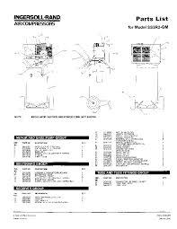 ingersoll rand air compressor manuals ingersoll rand ss3r2 gm air compressor parts list manual