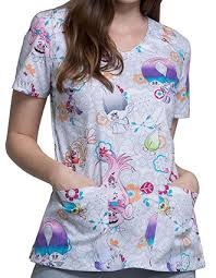 Scrub Top Patterns Magnificent Printed Scrub Tops Unique Artistic Pulse Uniform
