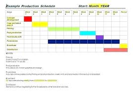 Production Schedule Template Excel Free Download Film Production Calendar Template Film Production Calendar
