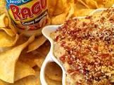 bacon kissed cauliflower dip w  crispy corn tortillas  ragu