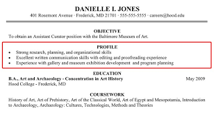 Resume Profile Statement Examples Pusatkroto Com