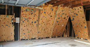 climbing wall in our garage