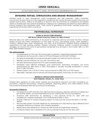 operations manager resume template cipanewsletter brand manager resume sample management template managers jobs