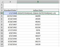 Julian Date Calendar 2010 How To Convert Dates To Julian Formats In Excel Dummies