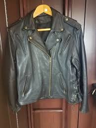details about women s fox creek leather classic ii motorcycle jacket size l made in usa