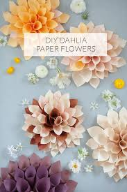 Dahlia Flower Making With Paper Diy Paper Flowers 100 Layer Cake Paper Flowers Diy