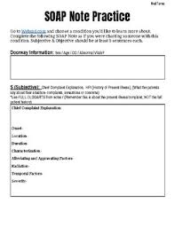 Soap Charting Health Science Individual Soap Note
