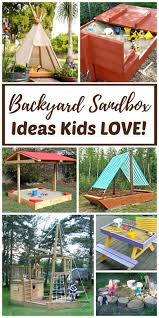diy and ready made backyard sandboxes are amazing outdoor sensory backyard play spaces for kids