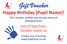 Personalised Gift Vouchers Templates Driving Lesson Gift Vouchers Personalised Vouchers Fivedrive