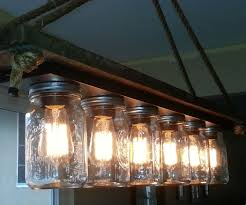reclaimed wood mason jar light fixture
