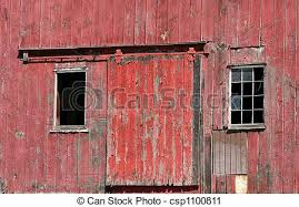 red barn doors clip art. old red barn door with windows - csp1100811 doors clip art r