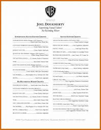 Cinematography Resume Template Filmduction Simple Sample Photoducer