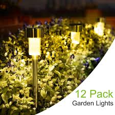 Amazon Prime Solar Garden Lights Sunnest Solar Garden Lights Outdoor 12 Pack Led Solar Powered Pathway Lights Stainless Steel Landscape Lighting For Lawn Patio Yard Walkway