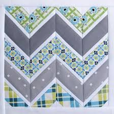 FREE Quilting Pattern Friday: Chevron Quilt Pattern & More & Blue and Grey-Toned Quilt with Chevron Pattern Adamdwight.com