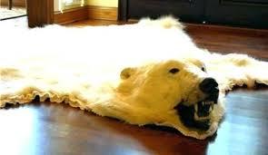 faux polar bear rug awesome real skin throughout 17