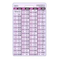 Pregnancy Wheel Chart Badge Card Reference By Scrubsandstuff