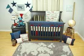 bedding cribs luxury polyester round toy bag kids furniture home design interior airplane crib nautical plane airplane baby bedding