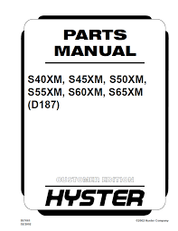 hyster (d187) s40 45 50 55 60 65xm parts manual pdf Hyster 50 Wiring Diagram spare parts catalog hyster (d187) s40xm s45xm s50xm s55xm s60xm s65xm parts manual pdf