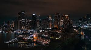 380324 sydney, city lights, skyscrapers ...