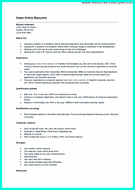 perfect data entry resume samples to get hired    data entry clerk resume sample and data entry