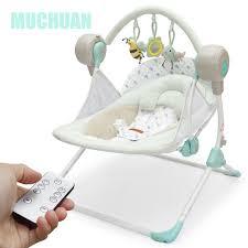 Bluetooth bebé cuna mecedora eléctrica bebé mecedora tumbona plegable más  tamaño eléctrica cama cuna automática 8