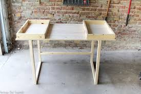 learn how to build a beautiful diy modern desk it s so easy and is a