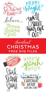 Free cut files for rae dunn inspired ornaments. Best Free Christmas Svg Files Pineapple Paper Co