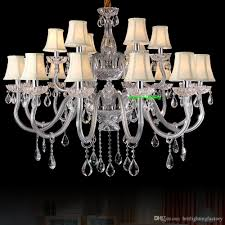 modern candle crystal chandeliers with fabric shades candelabra luxury fabric living room ktv crystal chandeliers european style chandeliers wine bottle