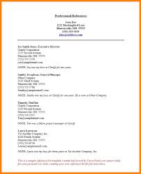 template for professional references 11 professional references sample gin education