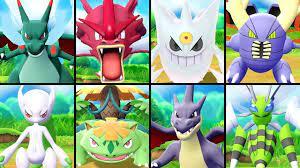 All SHINY Mega Evolutions in Pokémon Let's Go Pikachu & Eevee - YouTube