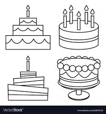 Trend Birthday Cake Clipart Black And White Beautiful Cake Cartoon